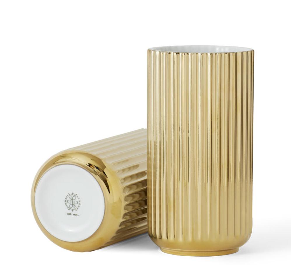 Lyngby Porcelen ゴールド花瓶