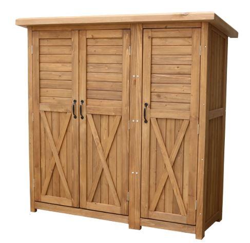 住まいスタイル 木製大型収納庫(三つ扉) KTDS1600