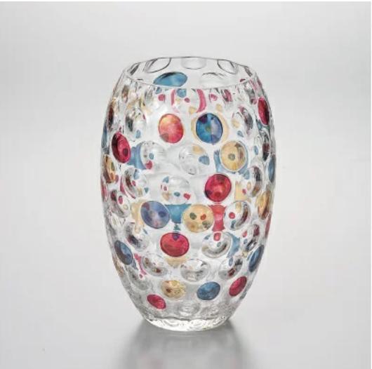 ラスカボヘミア カリガラス花瓶