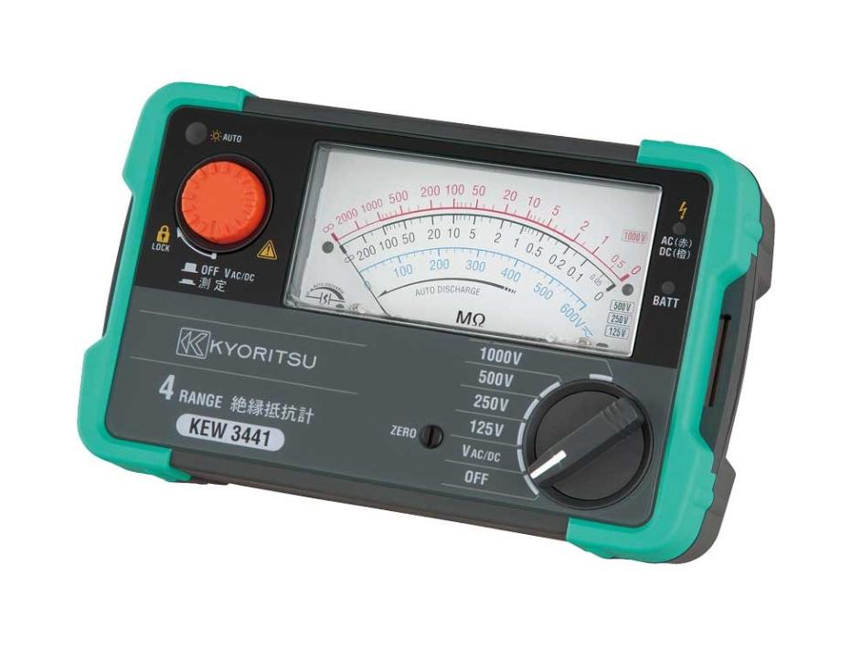 共立電気計器 キューメグ 4レンジ絶縁抵抗計 KEW3441
