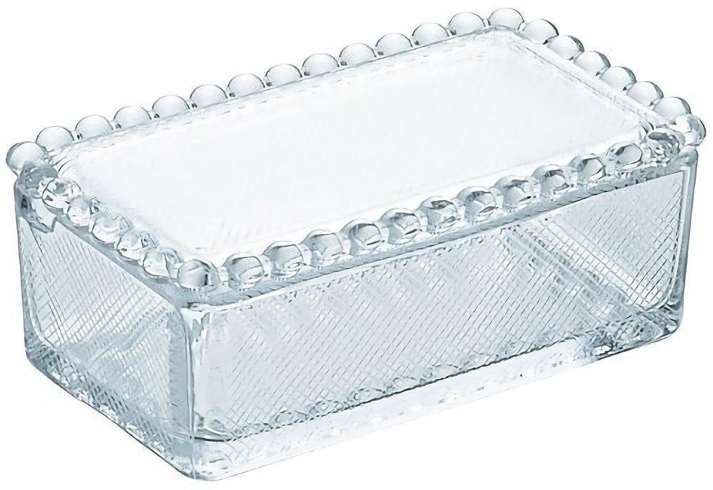 アデリア クリスタルガラス バターケース
