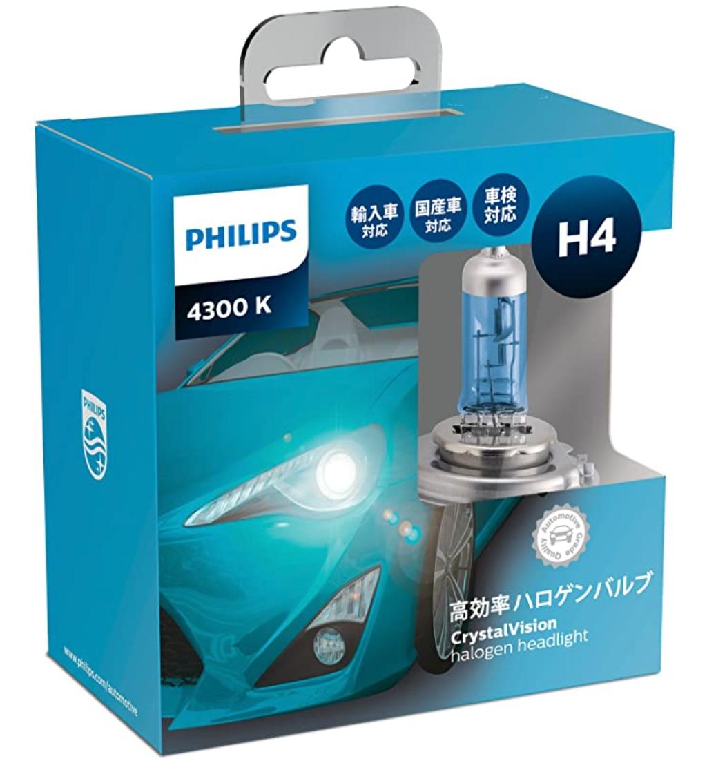 フィリップス ヘッドライト ハロゲン H4 4300K 12V 60/55W クリスタルヴィジョン