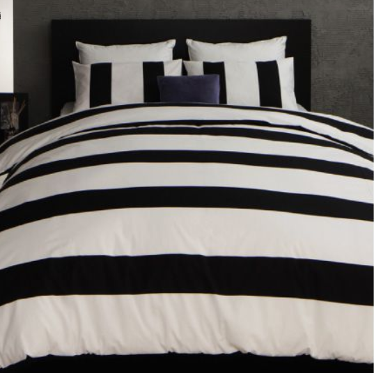 ベッド用 布団カバー3点セット rayures