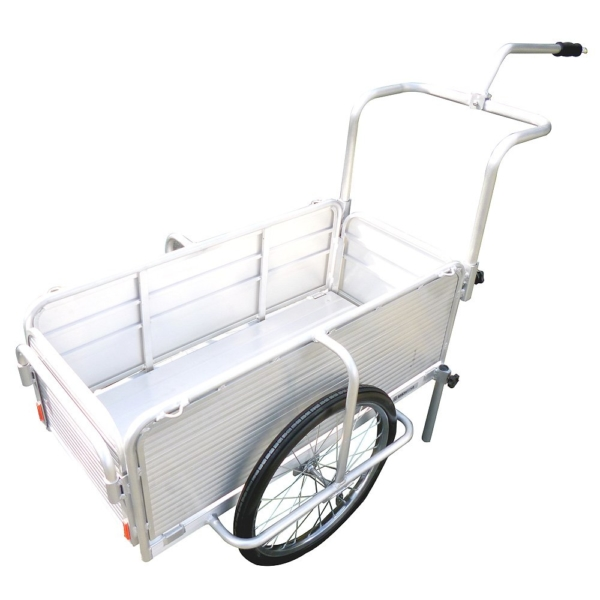 昭和ブリッジ 折りたたみ式リヤカー自転車接続金具付き