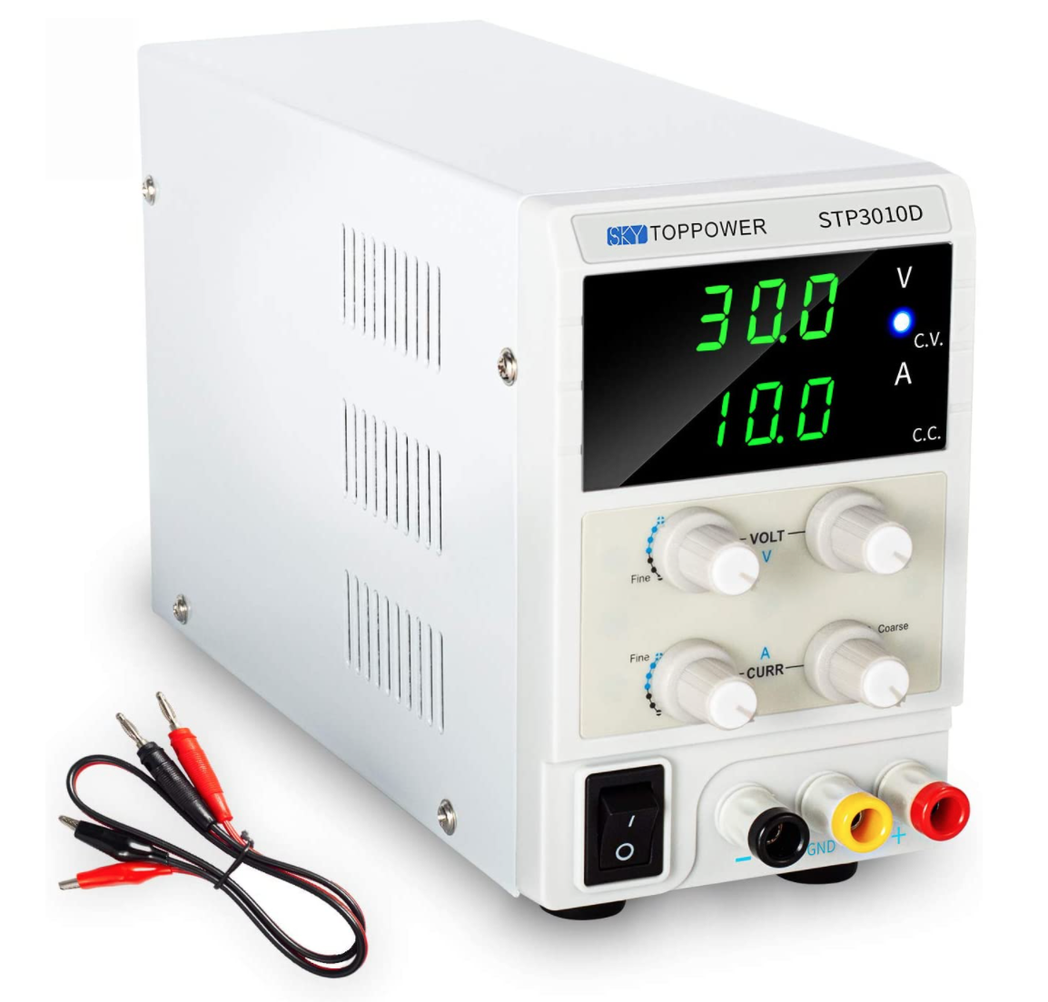 可変直流安定化電源 30V 5A 4桁電圧・電流表示 スイッチング電源