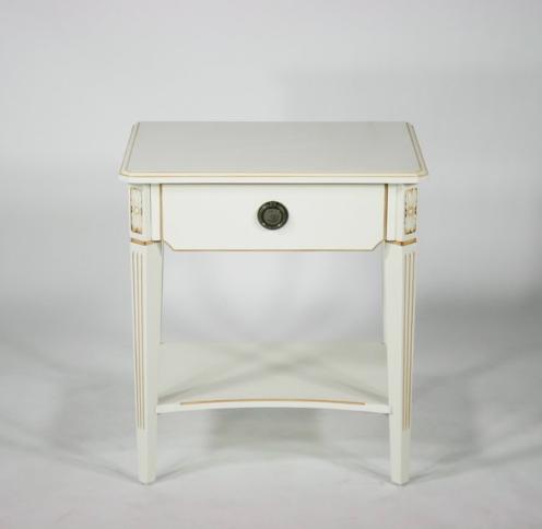 アイティーシー ホワイトロココ サイドテーブル 花台 F6102