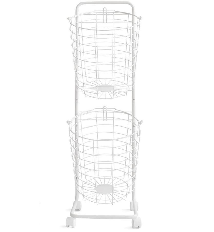 エア・リゾーム ランドリーバスケット2段 B06XW8JT3L