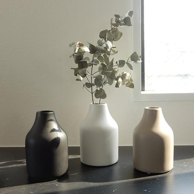 art of black 陶器 フラワーベース 花瓶