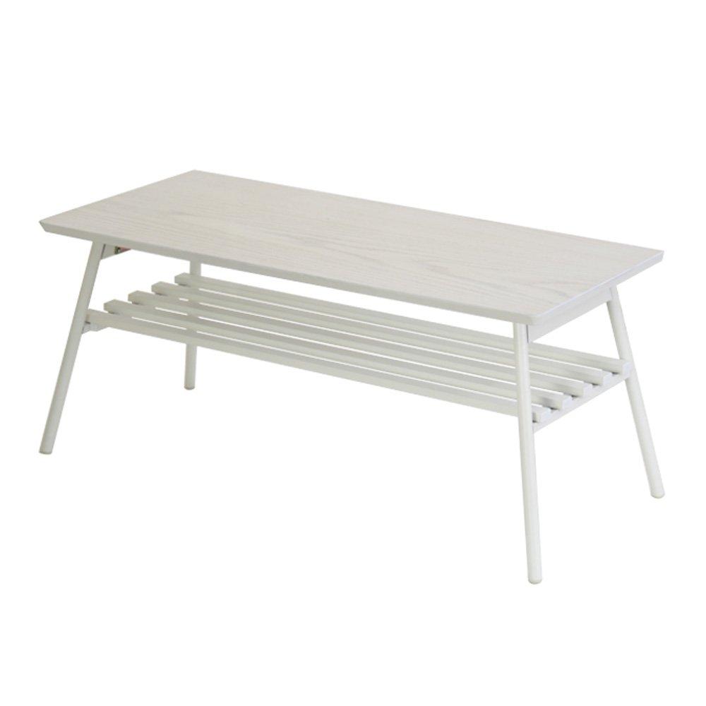 快適ホームズ 折りたたみテーブル ホワイト 棚付き 01-008WH