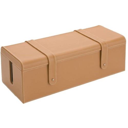 レザー調 電源タップ収納ボックス L WA-0004