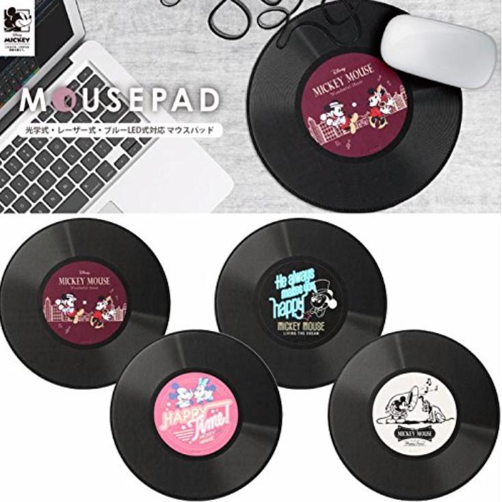 Disney マウスパッド ミッキーマウス レコード盤型