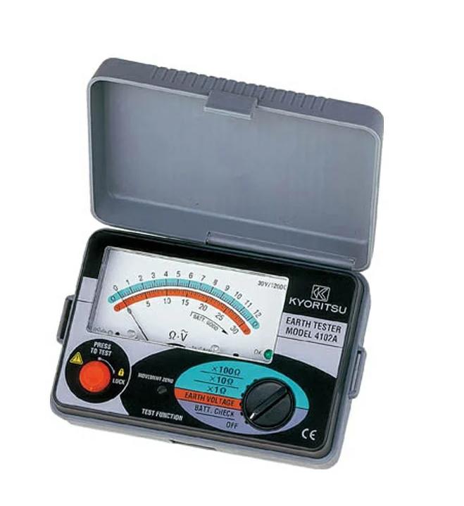 共立電気計器 アナログ接地抵抗計(ソフトケース) MODEL4102A