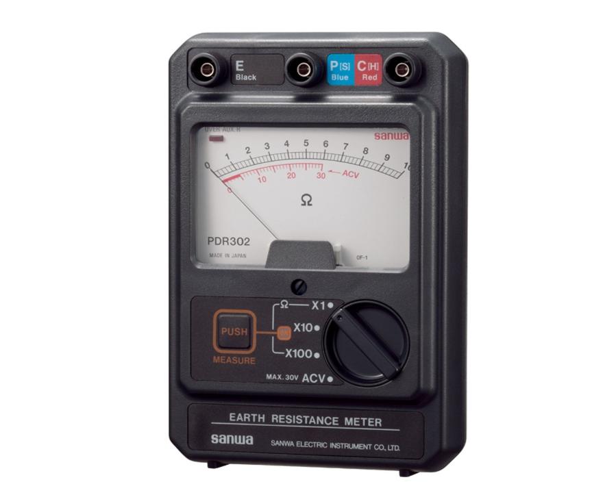 三和電気計器 接地抵抗計 アナログ式 PDR-302