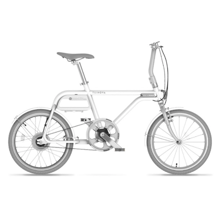 TSINOVA 20型 電動アシスト自転車 TS01 白磁/シングルシフト AR_TN20TS