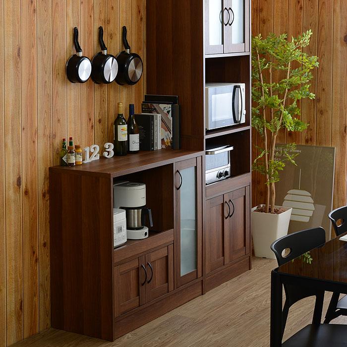 ザッカグマート ロータイプ アンティーク風キッチン 収納棚