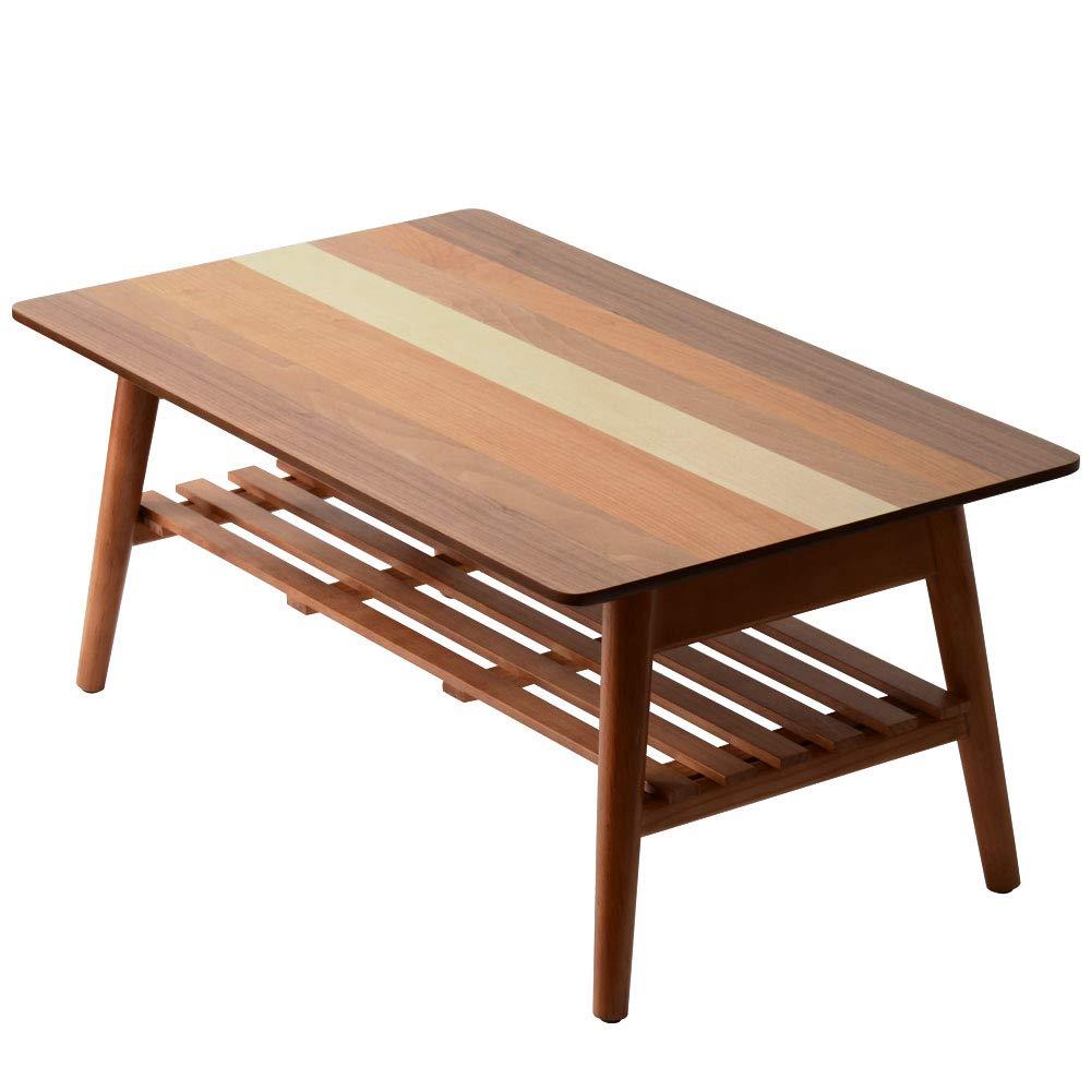 ワイエムワールド 4種類の天然木 折りたたみテーブル クワトロ 42-016