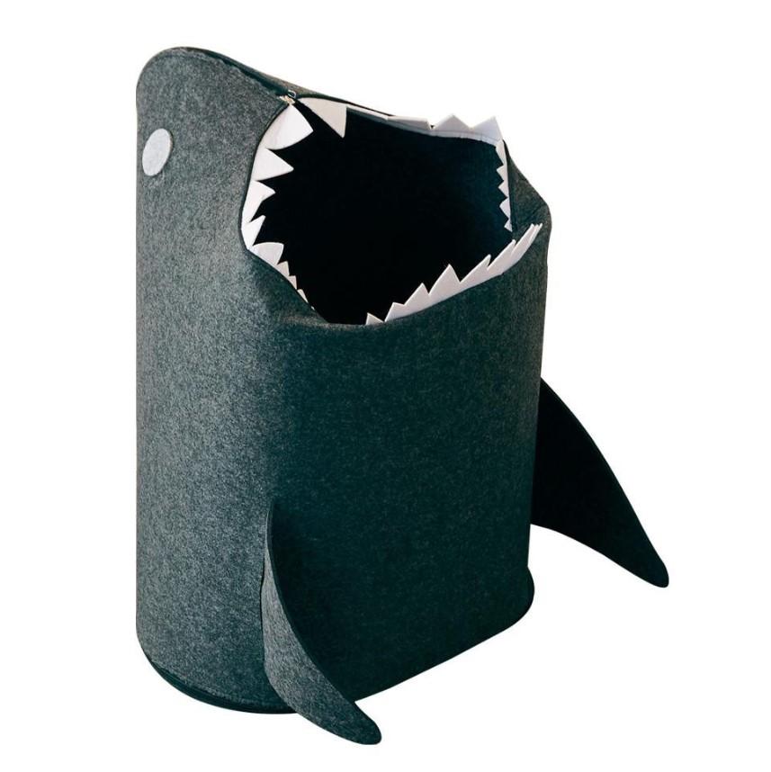 フェルトストレージ ランドリーバスケット サメ型