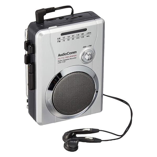 オーム電機 AM/FMラジオカセットレコーダー CAS-710Z