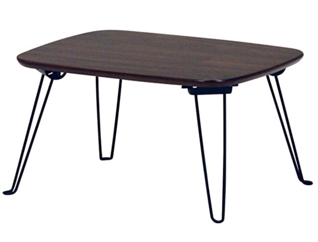 不二貿易 折りたたみ ローテーブル 幅40cm ブラウン 92244