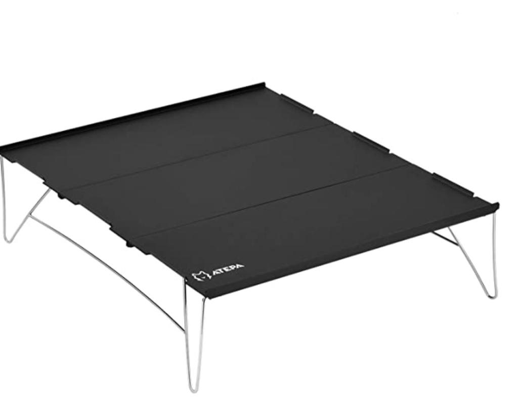 ATEPA キャンプ テーブル コンパクト ソロ 天板3枚組